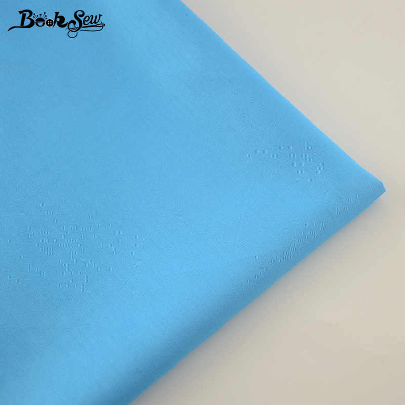 High Quality Cotton Fabric Twill Sky Blue Color Home Textile Material Sewing Cloth Tela For Bed Baby Doll Crafts