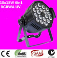 dj lighting 18x18w rgbwa uv 6in1 led par light   Aluminum alloy shell