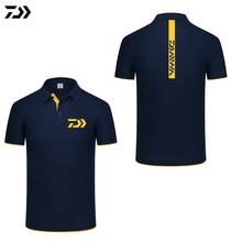 Daiwa Футболка фирменная новинка футболка-поло для рыбалки быстросохнущая дышащая Спортивная одежда для мужчин одежда для рыбалки короткий рукав Топ Футболка С рыболовным принтом
