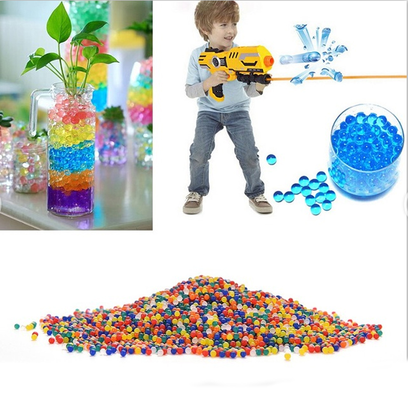 40000pcs Colored Orbeez Soft Crystal Water Gun Paintball Bullet Grow Water Beads Balls Toy Gun Toys Gift For Kids