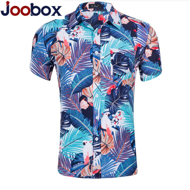 camisa hawaiana ropa de hombre 2019 Hawaiian Shirts Men's Monstera Button-Down Shirt Short Sleeve Floral Print Men Dress Shirts
