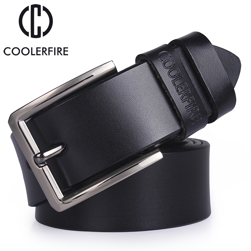 cowhide genuine leather belts for men brand male pin buckle jeans cowboy Mens Belts Luxury Designer High Quality  Leather belt