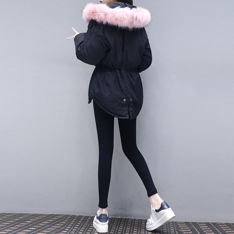 Femelle Manteau Noir Parka blanc Occasionnel Femme Veste Plus Rembourré Bas Vers gris La Coréenne Vêtements Coton A368 Le Femmes Taille Épaississement Hiver rose Lâche 2018 1C1Yv