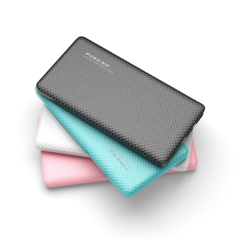 imágenes para Banco de la Energía 10000 mah PINENG PN-958 Original Li-Polímero Ultra-delgado Portátil de Batería Móvil Dual USB Para iphone7s Xiaomi Huawei