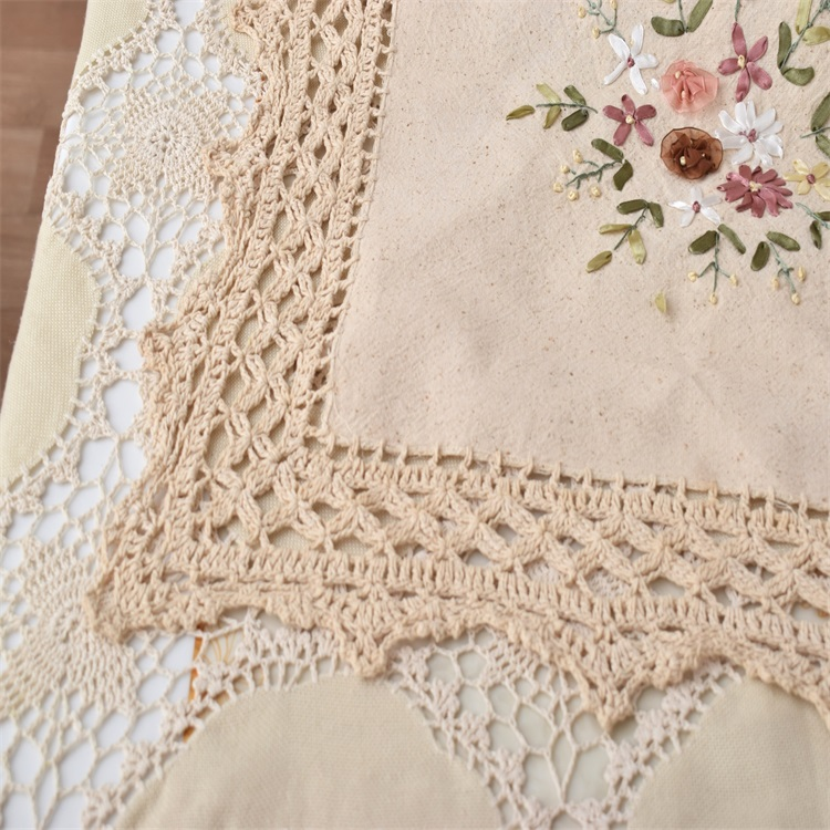Mesa de mantel de tela de Encaje de ganchillo de algodón CALIENTE de ...