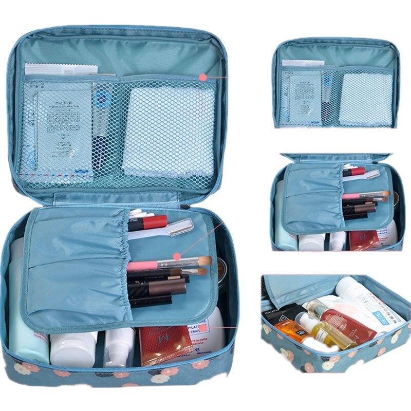 Rushed Floral Nylon Zipper New Women Makeup Bag Kosmetická taška Pouzdro tvoří organizér Záchodové úložiště Cestovní praní Cestovní taška