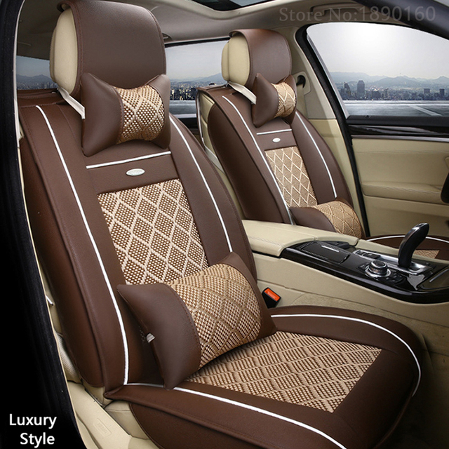 Breathable Leather Car Seat Covers For Fiat Uno Palio Linea Punto Bravo 500 Panda Suv