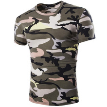 Camouflage Cotton Army Tactical Combat T-shirt