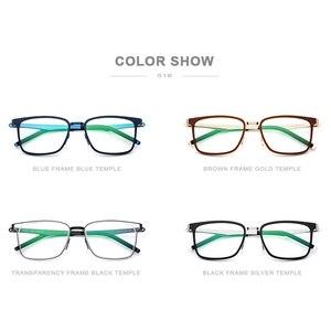 Image 5 - Fonex TR90 眼鏡フレーム、2019近視処方眼鏡のフレーム、スクエア眼鏡無ねじフレーム男女共用516