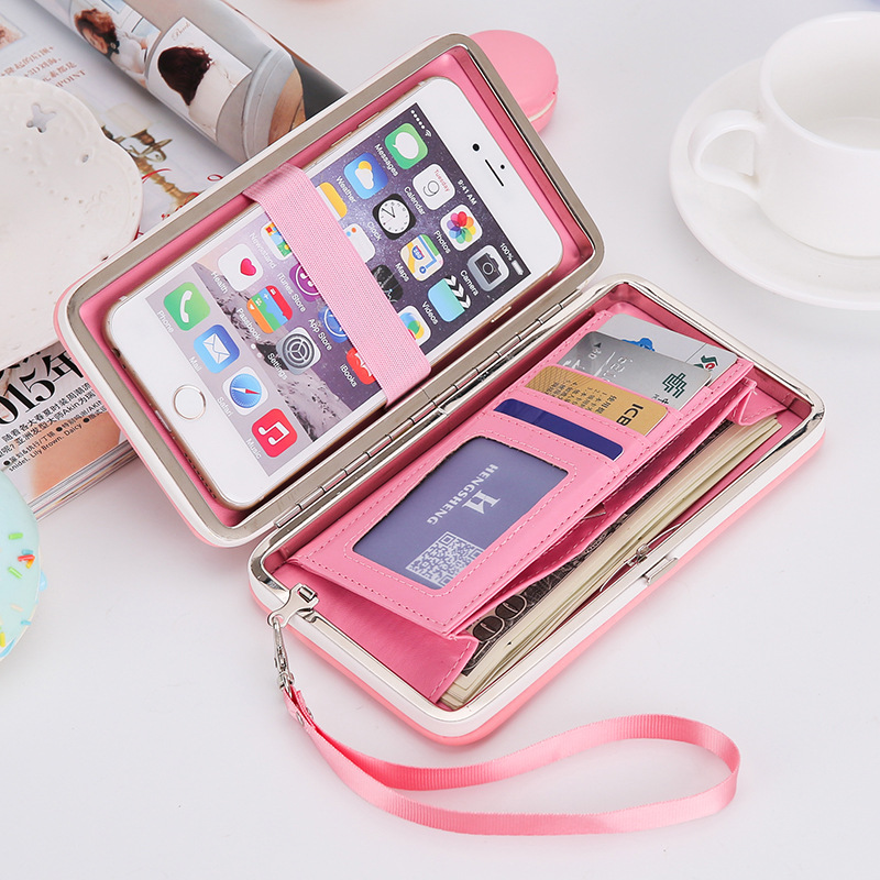QWEEK Purse Wallet Female 2017 Famous Brand Card Holders Cell Phone Pocket Gifts for Women Money Bag Ladies Clutch Coin Purse qweek wallet female geometric envelope clutch wallet for women pu leather hasp fashion wallet for phone money bags coin purse
