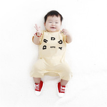 Summer Style Baby Love Papa Mama Printed Jumpsuits Boy Girl Clothes Infantil Romper Newborn Coveralls Next Bebes Rompers