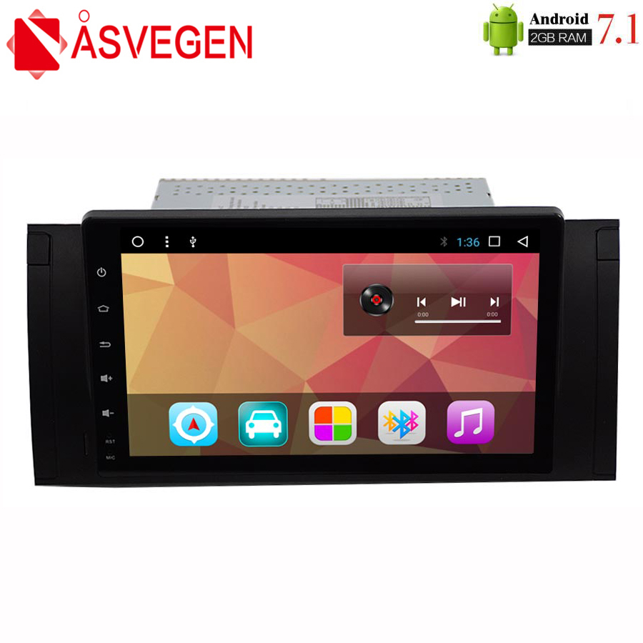 Asvegen 9'' Android 7.1 Car Radio DVD For BMW E39 E53 X5 Auto Stereo Multimedia Player GPS Navigation with Quad Core 2G+32GB