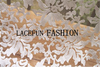 sale off White Embroidered Organza Lace Fabric, retro floral lace, 2016 Spring Summber new Collection 5yards