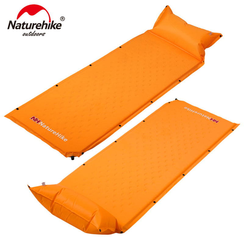 NatureHike Sleeping Mattress Self Inflating Pad Portable Bed with Pillow Camping Mat Single Person Foldable NH15Q002
