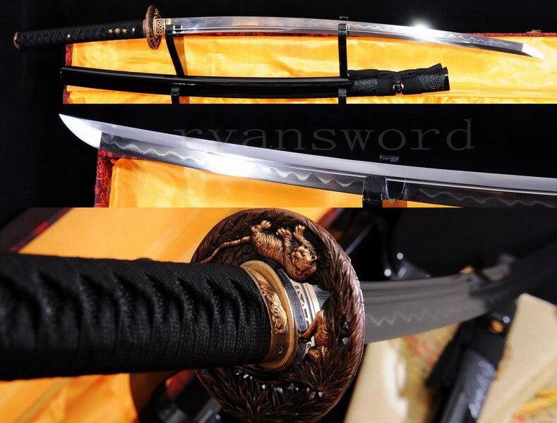 MAIN HONSANMAI ARGILE TREMPÉ JAPONAIS SAMURAI SWORD KATANA