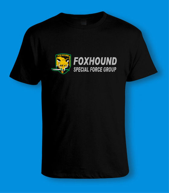 0ebdb5eaf7 Metal Gear Solid PS4 PS3 - FOXHOUND SPECIAL FORCE GROUP T-SHIRT Sizes to 5XL  New T Shirts Funny Tops Tee New Unisex Funny Tops