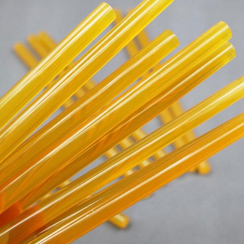 Mayitr, 5 uds., barra de pegamento amarilla para carrocería de coche, herramienta de reparación de abolladuras sin pintura, barritas de pegamento de fusión caliente para pistola de pegamento eléctrico, álbum de artesanía
