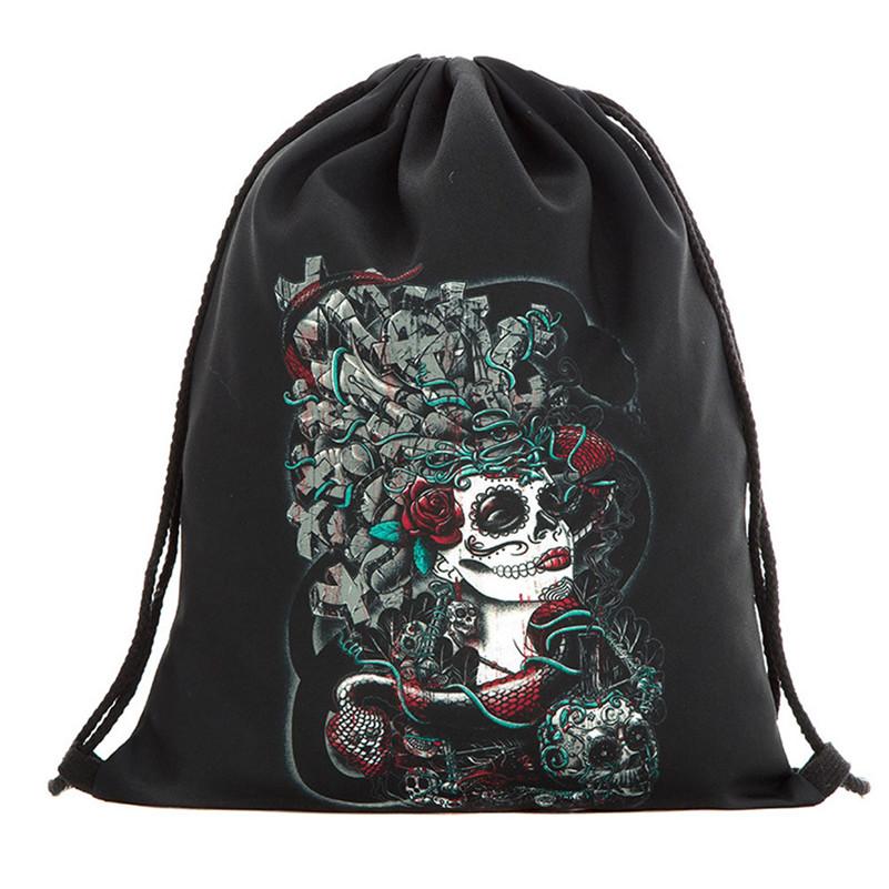 8c5b3c7651 Halloween Candy Bag Gift Bag Bundle Pocket 3D Printing Bags Drawstring  Backpack