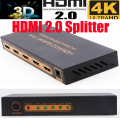 4 К HDMI 2.0 Splitter Switcher 1X4 HDMI 1 в 4 из 4 К X 2 К/60 ГЦ 3D 1080 P HDCP2.2 с адаптером питания