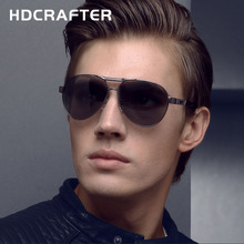 HDCRAFTER  Aluminum Alloy Frame Sunglasses High quality New Oculos de sol masculino 100% Polarized Eyewear Accessories For Men