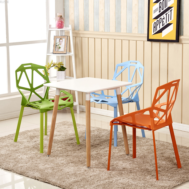 Simple hollowed out plastic chair Nordic furniture dining chair office table chair outdoor leisure reception coffee computer