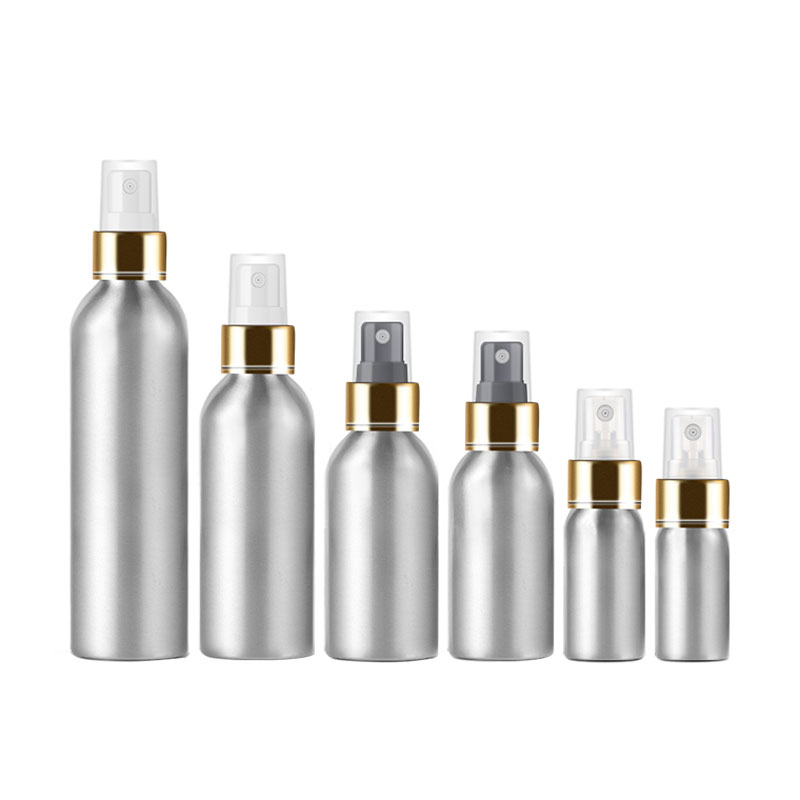 Empty Spray Pump Aluminum Container Perfume Metal Bottle Spray Pump Perfumes Bottles With Aluminum Mist Sprayer