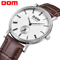 DOM  mens watches top brand luxury  waterproof quartz watch Business leather watch reloj hombre marca de lujo M253