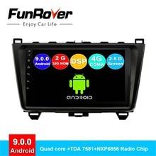 FUNROVER android 9,0 автомобильный dvd мультимедийный плеер радио Кассетный рекордер для Mazda 6 2008-2015 навигационная система gps навигатор DSP