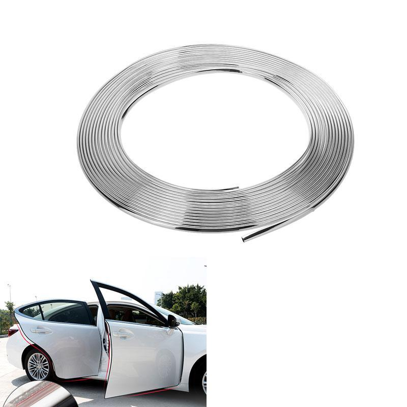 Image 2 - VODOOL 15m Car Chrome Decor Strip Trim Edge Sticker Auto Body Window Moulding Trim Sticker Car Accessories Exterior Decoration-in Interior Mouldings from Automobiles & Motorcycles