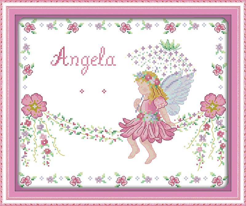 Joy Sunday Little Angel Pegatinas para uñas diseños de punto de cruz ...