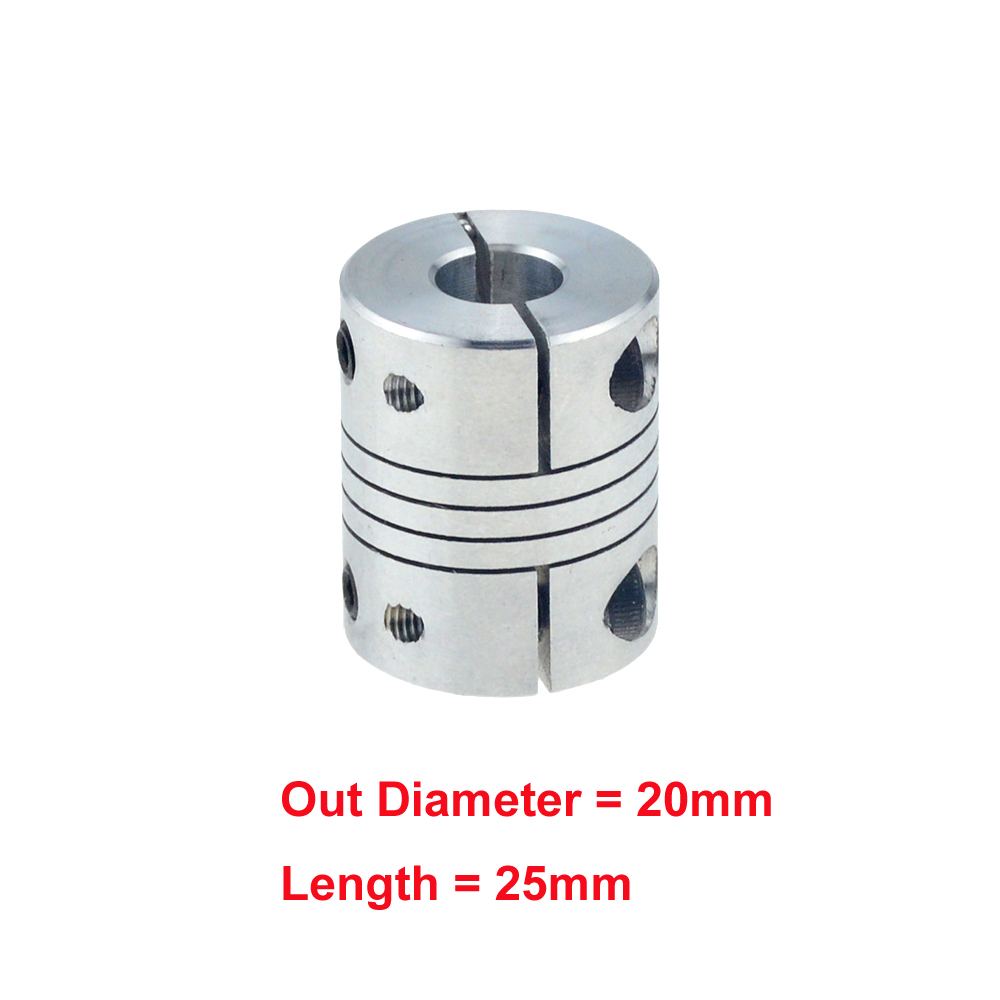 1//4Pc CNC stepper Motor Flexible Coupling Shaft Coupler Connector Spanner Screw