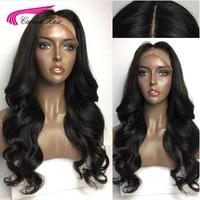 Carina волосы бразильские объемные волнистые 4x4 шелковые Базовые парики с волосами младенца 130% полный шнурок Remy человеческие волосы парики с п