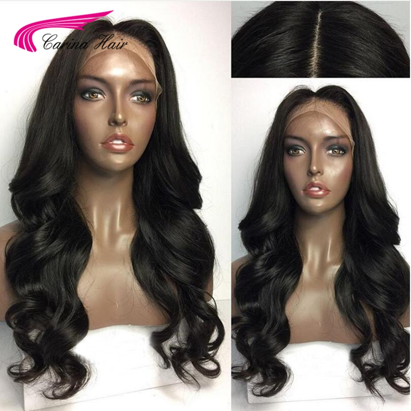 Carina Hair Brazilian Body Wave Silk Base Wigs with Baby Hair 130% Full Lace Remy Human Hair Wigs with Pre-Plucked Hairline