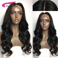 Carina Hair Brazilian Body Wave Silk Base Wigs with Baby Hair 130% Full Lace Remy Human Hair Wigs with Pre Plucked Hairline