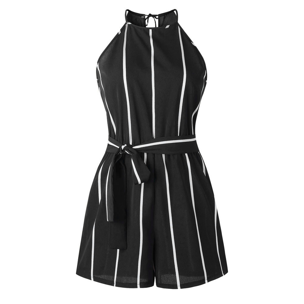 Jaycosin   jumpsuit   summer sexy ladies striped straps   jumpsuit   fashion cocktail skirt temperament   jumpsuit