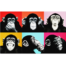DIY Money diamond painting Colorful Monkey Animal dimaond embroidery full drill 5D mosaic round