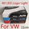 Стайлинга автомобилей 4D LED Логотип Свет для VW Polo Passat B5 B6 гольф 4 5 6 Jetta MK6 Tiguan Scirocco Beetle Высокое Качество Бесплатно доставка