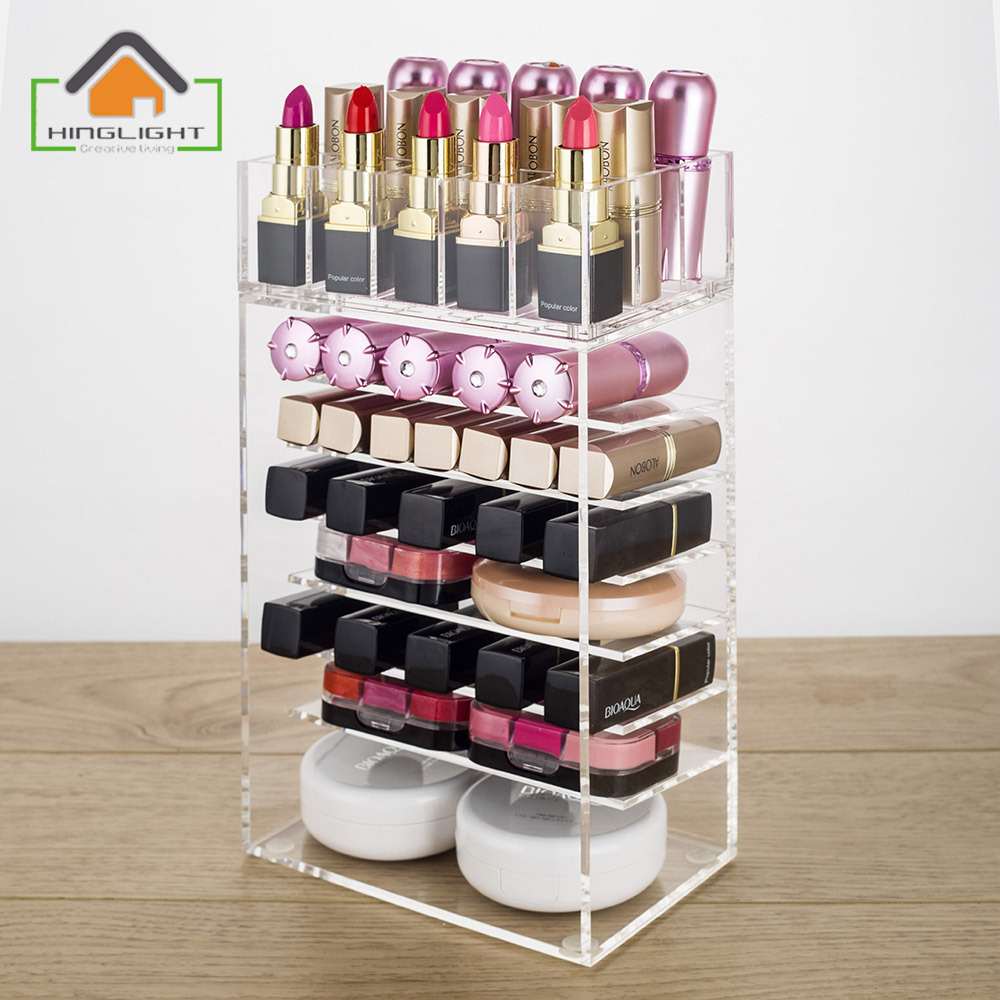 acrylic cosmetic organizer drawer makeup case lipstick storage insert holder box rangement rouge. Black Bedroom Furniture Sets. Home Design Ideas