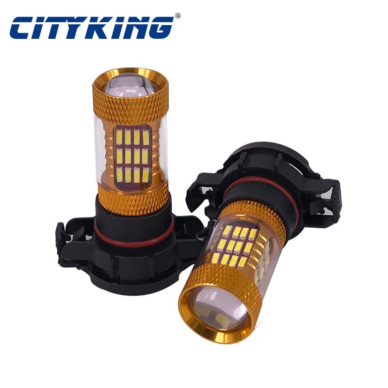 Cityking 1 PCS Alta Potência Branco H16 smd 4014 60LEDs 30 w - Faróis do carro - Foto 2