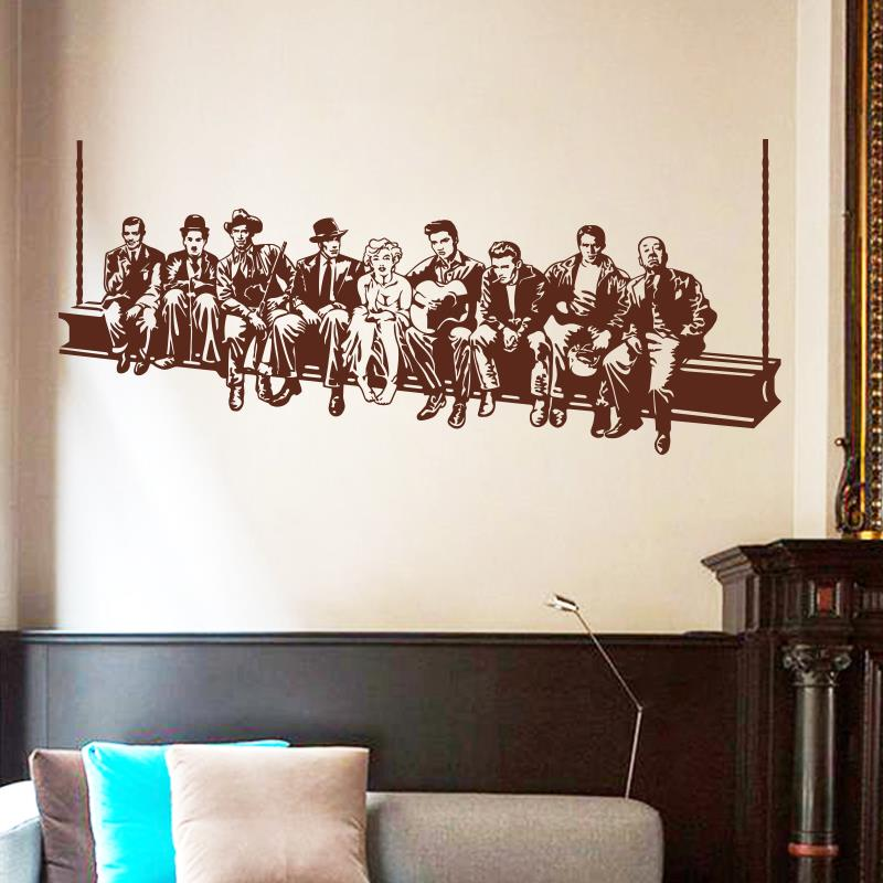 Aliexpress.com : Buy Hollywood Lunch Wall Sticker Movie Star Wall Decals  American Style Home Decoration Mural House Decor For Living Room Or Bedroom  From ... Part 70