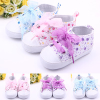 2016 Cotton Leather Baby Girls Lace Shoes Boys Lace Up Bulk Soft Soled Girls Newborn Boots