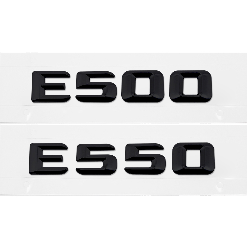 "CHROME REAR BACK LOGO /"" E240 /"" EMBLEM DECAL FOR MERCEDES BENZ KOMPRESSOR E CLASS"