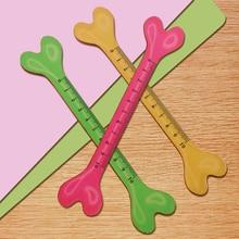 FangNymph Милая в форме собачьей кости Геометрическая деревянная линейка креативная Студенческая линейка для рисования школьные офисные канцтовары, случайный цвет