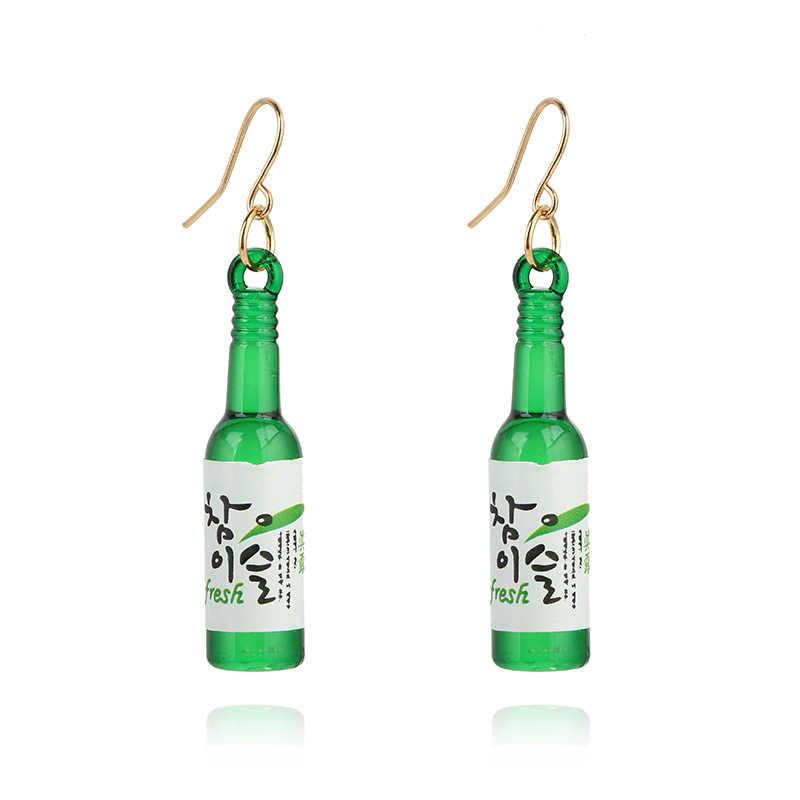 Thời trang Handmade Jewelry Bia Bông Tai Chai Nữ Phong Cách Sáng Tạo Dangle Ear Bijoux Đối Với Bridemaids Phụ Nữ Món Quà Cưới