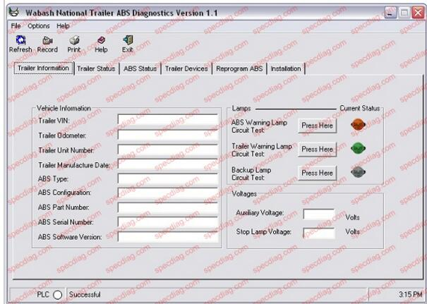 diagram heavy duty abs tractor/trailer diagnostic kit for bendix     on bendix  abs abs trailer wiring