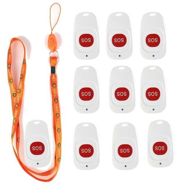10 PCS Sino de Chamada de Pager Sem Fio Sistema de Pager De Emergência Botão de Chamada para o Paciente Do Hospital o Idoso Melhor F4466B