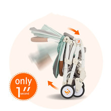 6kg Lightweight Baby Stroller Foldable Portable Kinderwagen Multifunctional Adjustable Four-wheel Trolley Cart