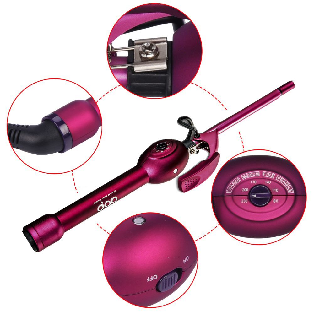 Professional Hair Curling Iron Ceramic Hair Curler Rollers Electric Magic Curling Wand Wave 9 13 19 25 32mm beads Styling Tools in Curling Irons from Home Appliances