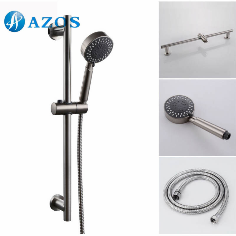 3 function hand shower head with adjustable slide bar brushed sus304 stainless steel lytz064 in. Black Bedroom Furniture Sets. Home Design Ideas