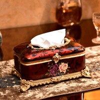 Высококлассные Европейский сад ткани коробка Смола ремесла коробка творческий ткани пятнистости Главная Ремесло подарки